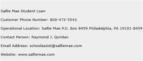 sallie mae student loan customer service phone number