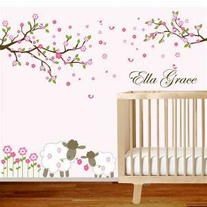 Vinyl wall decal branch set nursery by