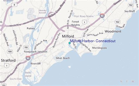 milford harbor connecticut tide station location guide