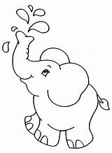 Coloring Elephants Pages Children Elephant Simple Printable Easy Animal Drawing Colour Animals Sheets Books Zoo Adult Drawings Justcolor Disney K5worksheets sketch template