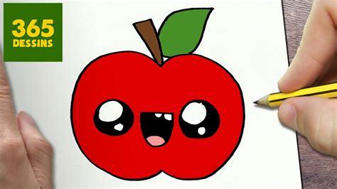 comment dessiner pomme kawaii etape par etape dessins kawaii facile youtube