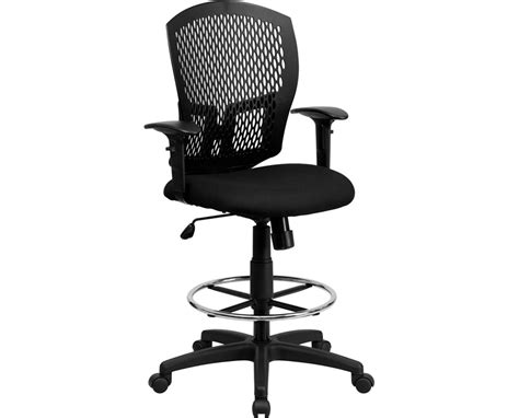 Drafting Chair With Arms by Flash Furniture Mesh Back Drafting Chair With Arms Wl