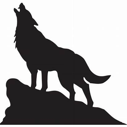Wolf Shape Lone Rustic Wooden Shapes Symbols