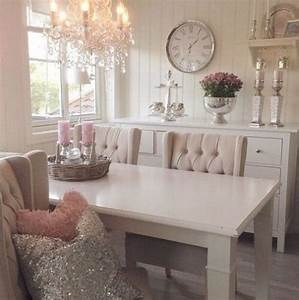 34 cute feminine dining rooms and zones comfydwellingcom With decoration salon style romantique