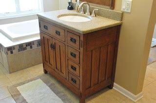 Mission Style Bathroom Vanity - bonus room craftsman bath craftsman bathroom chicago