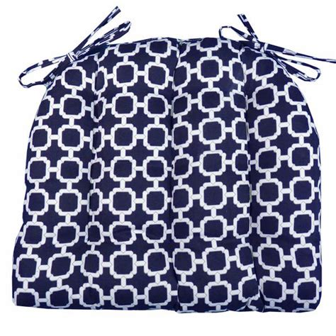hockley navy blue indoor outdoor dining chair pads