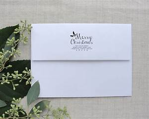 personalized holiday address stamps merry christmas With holiday address stamps