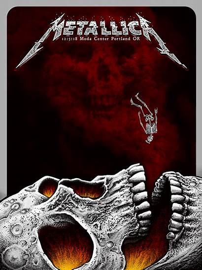 Metallica Poster Concert Emek Portland Band Metal