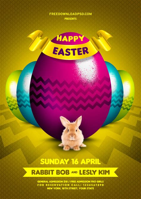 colors happy easter flyer  psd freedownloadpsdcom