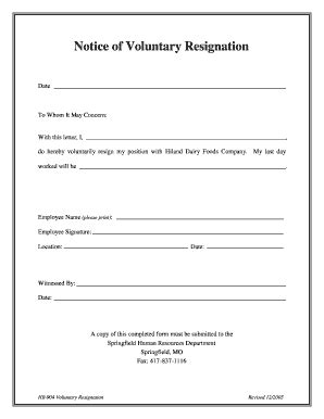 21 Printable Letter Of Resignation Template Microsoft Forms - Fillable Samples in PDF, Word to