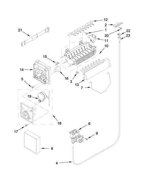 ice maker parts diagram parts list  model