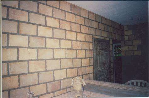 faux brick tile wall ah interior painting
