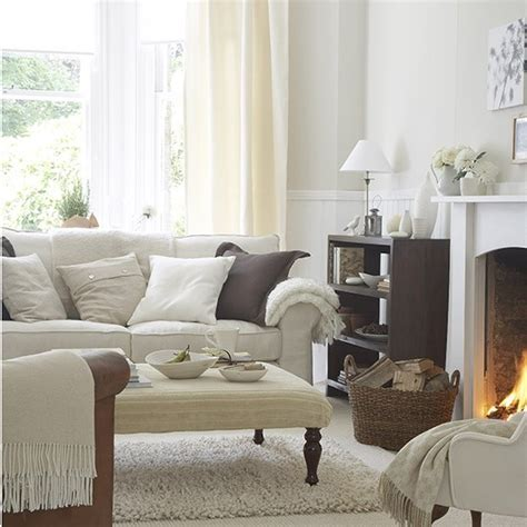 Living room in soft natural shades   White living room