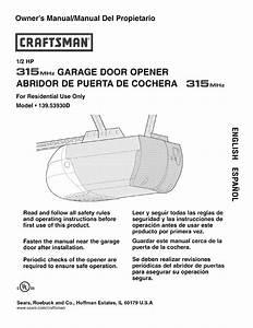 Sears Garage Door Opener Installation Instructions