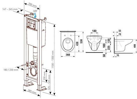 hauteur dune cuvette de wc