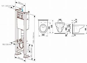 Dimension D Un Toilette Suspendu : pack bati support ancofix anconetti ~ Premium-room.com Idées de Décoration