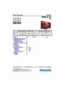 Philips 40pfk5300 12 Chassis Tpm15 1e La 312278519781 Sm