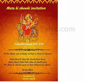 invitation card jagran images invitation sample and With wedding invitation for mata ki chowki
