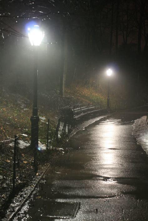 rainy night  central park   rainy rainy day