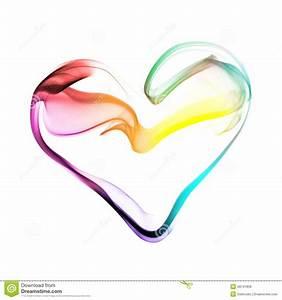 Colorful Heart Made Of Smoke Stock Photo - Image: 49741858