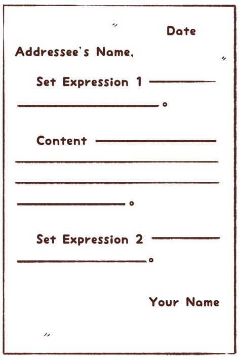 english letter envelope format writing write  horizontal
