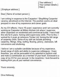 how to write a covering letter for a job uk - carpenter cover letter sample