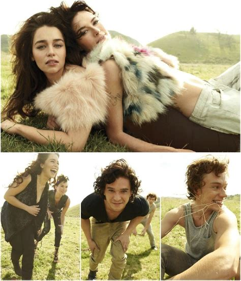 The Gallery For --> Emilia Clarke Kit Harington Rolling Stone