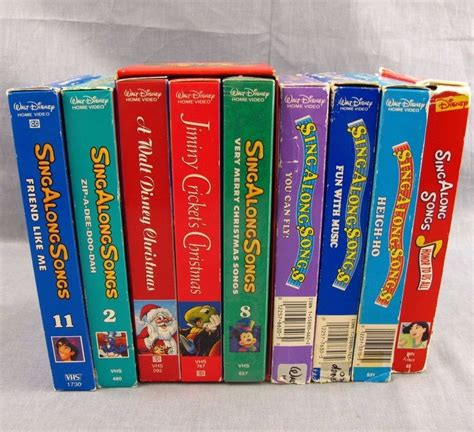 walt disney sing along songs vhs lot of 11 collection sing along