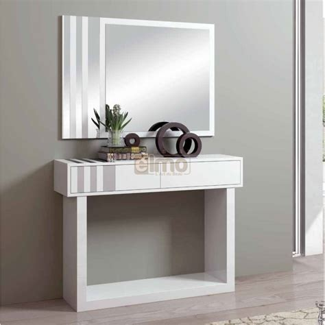 destockage cuisine console entrée design contemporaine miroir stripe