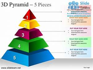 3d Pyramid Stacked Shapes Chart 5 Pieces Powerpoint