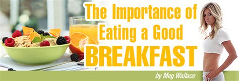 The Importance Of Eating A Good Breakfast « Forher