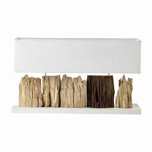 Lampe Aus Holz : lampe pranburi aus holz mit lampenschirm aus wei baumwolle h 46 cm maisons du monde ~ Eleganceandgraceweddings.com Haus und Dekorationen