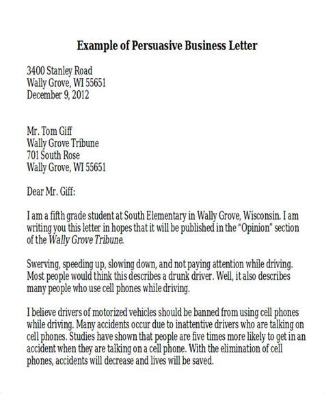 persuasive letter template 7 sle persuasive business letters sle templates