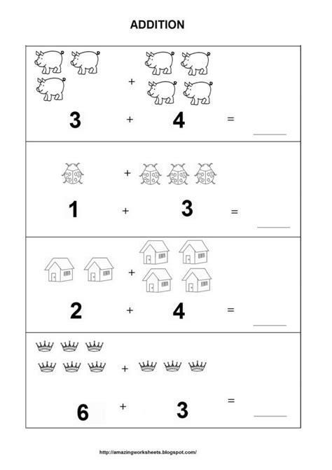 picture adding worksheets kindergarten addition