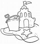 Sandcastle Drawing Sand Castle Coloring Getdrawings sketch template