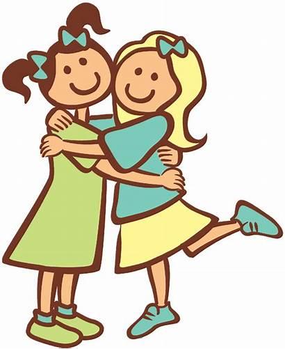 Friends Clipart Hug Transparent Friend Happy Friendship
