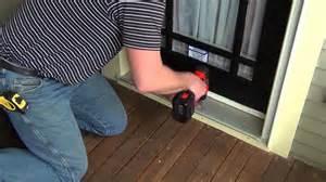 install sliding screen door seasonguard retractable screen door installation