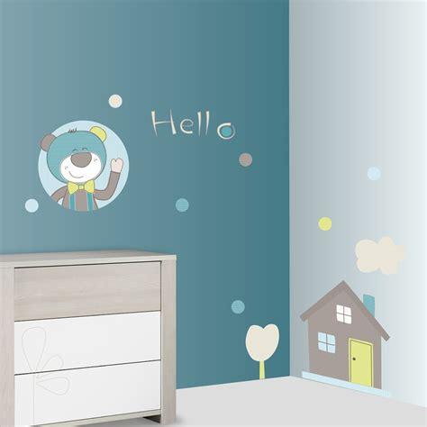 stickers ours chambre bébé stickers chambre bébé ours paddy de sauthon baby deco