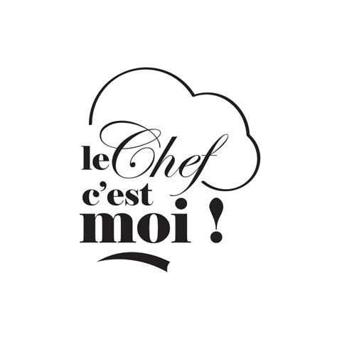 sticker citation chambre autocollants adhésif de cuisine le chef toque cuisinier