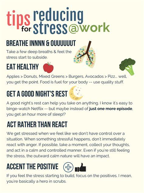 tips  reducing stress  work ekidzcare blog
