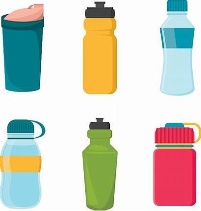 Bottle Clipart Water Bottles Plastic Reusable Vector