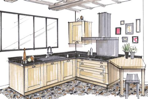 dessiner en perspective une cuisine dessin d une cuisine 28 images r 233 alisations