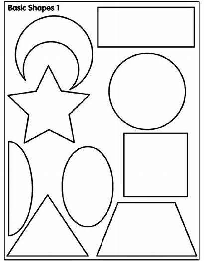 Coloring Shapes Basic Pages Crayola Printable Shape