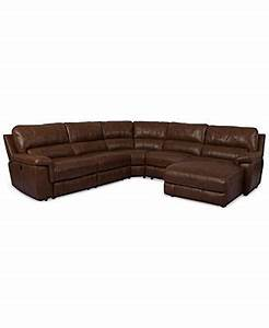 Brandie leather 5 piece chaise sectional sofa with power for Brandie leather 5 piece chaise sectional sofa with power recliner