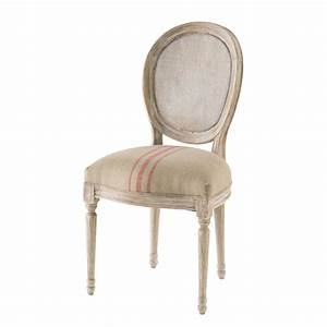 Chaise Médaillon Maison Du Monde : chaise m daillon cann e en lin cru et rouge maisons du monde ~ Teatrodelosmanantiales.com Idées de Décoration