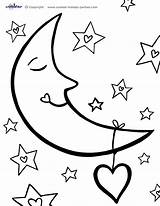 Moon Coloring Pages Printable Print Printables sketch template