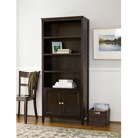 bookcase with doors walmart canopy 408936 tall 4 shelf bookcase with doors multiple
