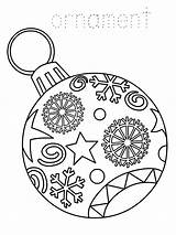 Christmas Coloring Ornament Printable Pages sketch template