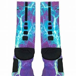 Kaboom Teal Purple Custom Nike Elite Socks – Fresh Elites
