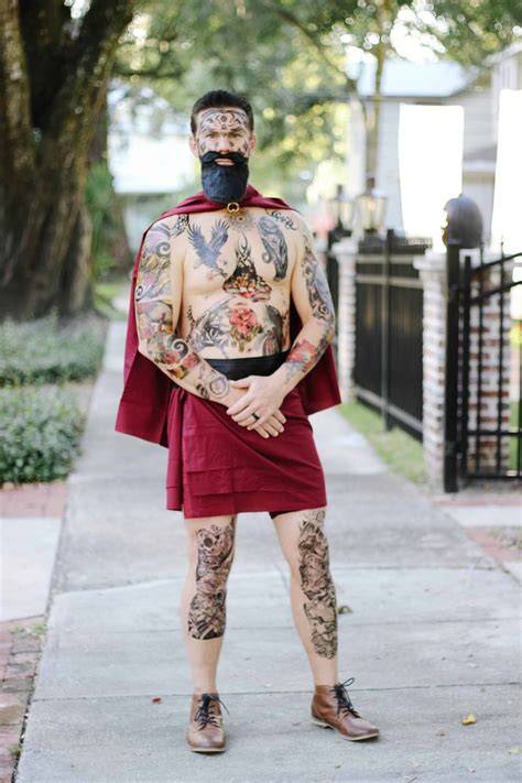 greatest showman halloween costumes tattoo man